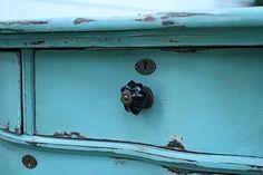 "Dresser Re-do:  ""Reflecting Pool"" by Sherwin Williams.  Minwax Golden Oak Stain"