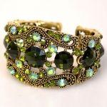 EXOTIC GREEN Rhinestone CUFF Cowgirl Jewelry Bracelet