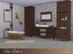Urban Bathroom by Lulu265 at TSR • Sims 4 Updates