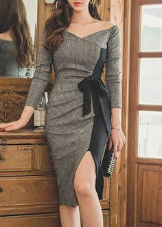 Slit Design Zipper Closure Patchwork Dress on sale only US$31.11 now, buy cheap Slit Design Zipper Closure Patchwork Dress at lulugal.com