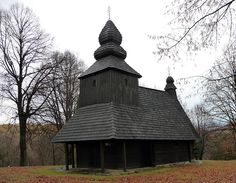 Wooden Churches of Eastern Slovakia Place Of Worship, Eastern Europe, Gazebo, Outdoor Structures, Cabin, House Styles, Places, Crosses, Home Decor