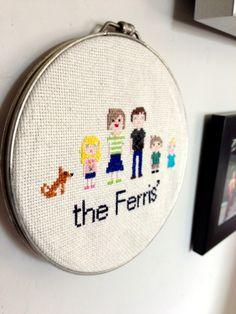 Family Portrait Cross stitch