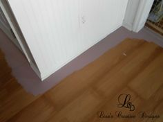 I started searching the Internet on how to paint vinyl flooring and came across a few fellow bloggers who had tackled the project. With the advice of Necel from The Old House In Texas , I dove in. This is my version of How To Paint A Laminate Floor…