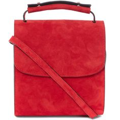 Marques Almeida Red Suede Single Flap Shoulder Bag ($675) ❤ liked on Polyvore featuring bags, handbags, shoulder bags, red shoulder bag, suede purse, shoulder handbags, shoulder hand bags and red handbags
