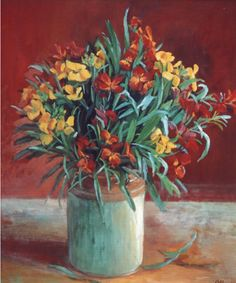 Paintings - Margaret Hannah Olley - Page 5 - Australian Art Auction Records. Margaret Hannah Olley AC ( 1923 – was an Australian painter. Australian Painting, Australian Artists, Flower Wall, Flower Vases, Wall Flowers, Australian Flowers, Still Life Flowers, Painting Still Life, Arte Floral