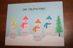 cool contractions- cricut