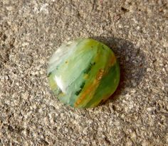 Peruvian Opal, Nice round Green and Blue Peruvian Andean Opal for making jewelry or collecting, Peru Charmstone - pinned by pin4etsy.com