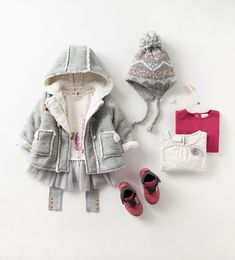 Zara Baby Girls Winter Outfit