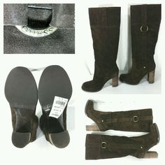 Guess JASANA brown tall boots. Suede size 6.5. Floor model.  #Guess #FashionKneeHigh #Casual