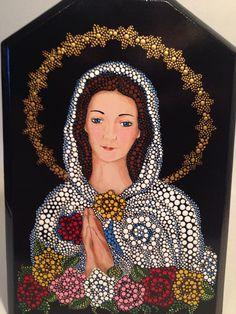 La Virgen de la Rosa Mística. Puntillismo