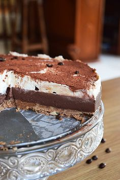Tiramisu cheesecake Tiramisu Cheesecake, Cheesecake Recipes, Pudding Recipes, Cheesecakes, Donuts, Muffins, Healthy Eating, Cream, Baking