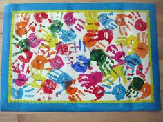 Great idea for childrens room....with their hand prints!