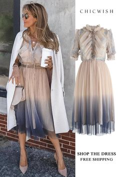 We Know It All Gradient Pleated Mesh Tulle Dress – Hijab Club Tulle Dress, Dress Skirt, Dress Up, Mode Outfits, Fall Outfits, Cute Dresses, Beautiful Dresses, Illustration Mode, Elegantes Outfit
