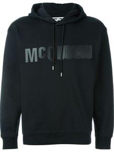 MCQ ALEXANDER MCQUEEN Logo Print Hoodie. #mcqalexandermcqueen #cloth #hoodie