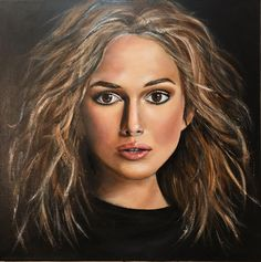 """Is it me you are looking for?"" #oilonacrylic #oilpainting #oliepåakryl #oliemaleri #painting #paintingbytinafevre #maleri #art #kunst #talentedpeopleinc #portrait #portrætmaleri#arts_gate #mixedmedia #arts_help#keiraknightley"