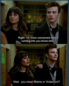 Haha a harry potter reference in glee