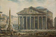 Vue du Panthéon, Rome by Abraham-Louis-Rodolphe Ducros