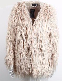 Faux Fur coat -                             Faux Fur coatMaterial: Faux…