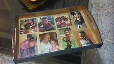 Present for daddy with the kids - serving tray