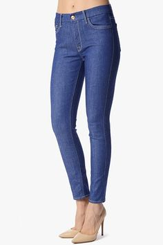 "The High Waist Ankle Skinny in Indigo Twill (28"" Inseam) #7FAM."