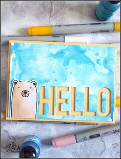handgemachte Grußkarte mit Ranger Alkoholtinte und Dani Peuss Klartext Ranger, Cardmaking, Real Talk, Xmas Cards, Alcohol, Card Making
