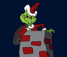Grinch In Chimney Pattern Grinch Who Stole Christmas, Whoville Christmas, Christmas Rock, Christmas Canvas, Diy Christmas Cards, Christmas Scenes, A Christmas Story, Homemade Christmas, Christmas Displays