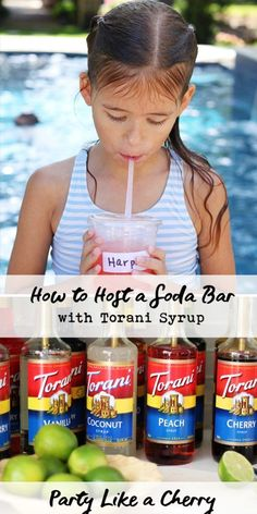 how to host a soda bar, DIY dirty soda bar and free printables. Every thing you need to throw a refreshing summer party! Torani Syrup, Kids Party Themes, Party Ideas, Party Finger Foods, Summer Parties, Summer Fun, Happy Summer, Style Summer, All Family