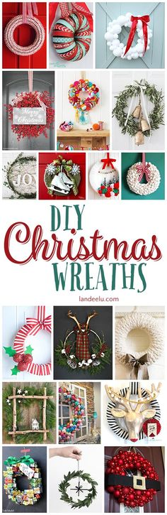 I love Christmas crafts! These DIY Christmas wreaths are awesome. I want to make some! A collection of the best DIY Christmas wreaths out there! Beautiful wreaths to inspire you to get crafty this Christmas. Lots of different styles too! Christmas Wreaths To Make, Holiday Wreaths, Diy Christmas Gifts, Christmas Projects, All Things Christmas, Christmas Home, Christmas Holidays, Christmas Bulbs, Christmas Decorations