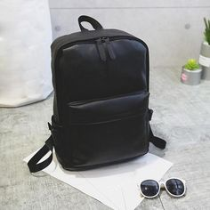 Men's Women's Leather Backpack Laptop