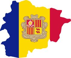 Andorra National Map and Flag