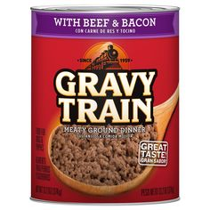 Gravy Train 079100503025 13.2 oz Meaty Ground Dinner with Beef and Bacon Wet Dog Food, One Size -- Continue to the product at the image link. (This is an affiliate link and I receive a commission for the sales)