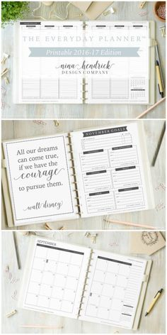 The Everyday Planner™ Printable 2016-17 Edition from @nina_hendrick