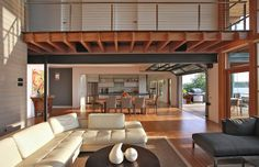 Heavenly Greenhouse Design with Wooden Deck: Classy Wood Grid Details Set Over The House Interior