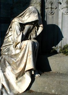 Weeping woman -  lachrymose. Latin derivative entered vernacular in mid-1600s.