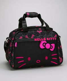 Take a look at this Pink & Black Hello Kitty Weekender by Hello Kitty on #zulily today!