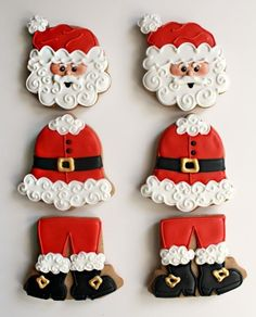 SANTA COOKIE TUTORIAL (ELF ALSO)