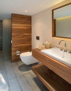 Afbeeldingsresultaat voor houten modern badkamermeubel