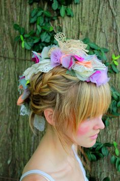 Flower Mohawk from Vintage Doilies and Lace Coral and by JustLiv @Julie Dual