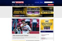 The Sky Sports website has the responsibility of displaying information well above the realms of just football. It manages to display said information on a huge variety of televised and untelevised sports all split into several different locations. It has different sections for sports, betting, video highlights, etc. It maintains an easy to learn design even for the most technological illiterate.