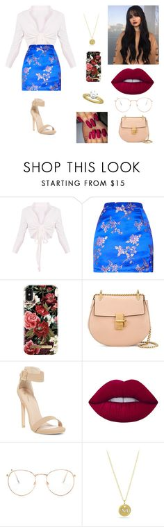 """Sem título #2608"" by mahceinha ❤ liked on Polyvore featuring iDeal of Sweden, Chloé, Lime Crime, Glance Eyewear and David Yurman"