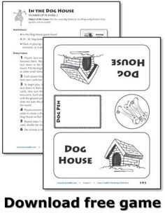 "Download free ""In the Dog House"" game from Mastering Math Facts Multiplication and Division: Aligned with the Common Core - Fast-paced card game to practice times tables with a partner"