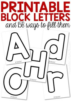 Make teaching your preschooler the letters of the alphabet fun and hands-on with these printable block letters! Both upper and lowercase letters included! Preschool Literacy, Preschool Letters, Preschool Printables, In Kindergarten, Preschool Parent Communication, Free Printable Alphabet Letters, Free Printable Banner, Letters For Kids, Preschool Learning Activities