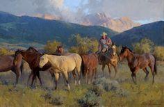 Bill Anton Studio--great horse paintings