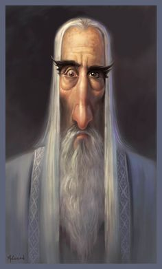 Christopher Lee as Saruman ★ Find more at http://www.pinterest.com/competing/