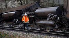 CN blames heavy rain for Burnaby train derailment