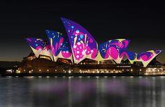 A Ópera de Sydney vai ganhar muitas cores durante o festival Vivid Sydney graças ao pessoal do estúdio de design Universal Everything.