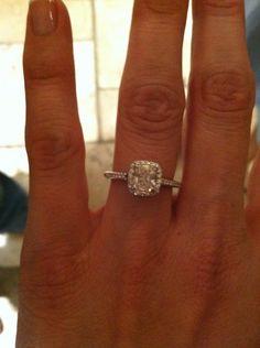 Tiffany's engagement ring!