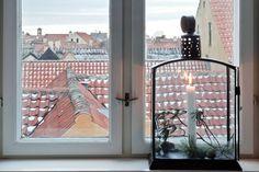 Vistas de los tejados en Dragor, en las afueras de Copenhague.