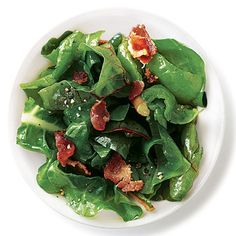 Choose Warm Bacon Vinaigrette Swiss Chard as a healthy side to complete your meal. Swiss chard is softened by a sprinkling of warmed...