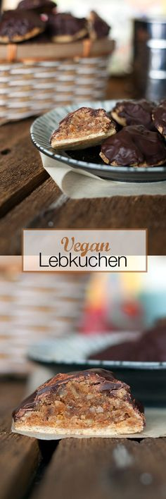 German Lebkuchen is a traditional German baked Christmas treat, somewhat resembling gingerbread. These cookies are a delicious combination of winter spices. orange and chocolate. Mmmm VEGAN German Lebkuchen